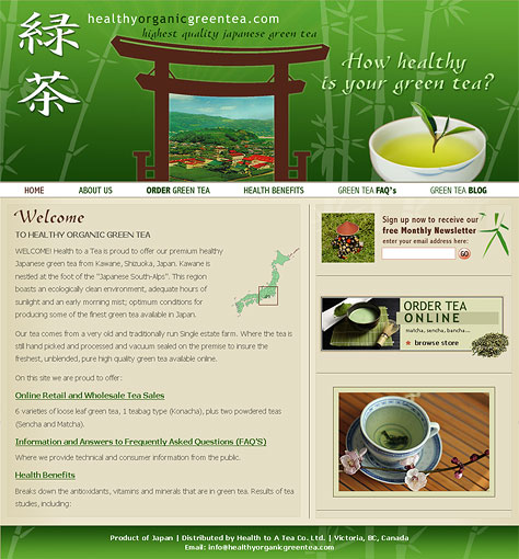 Healthy Organic Green Tea